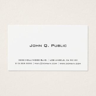 Berufliches einfaches Weiß Visitenkarte