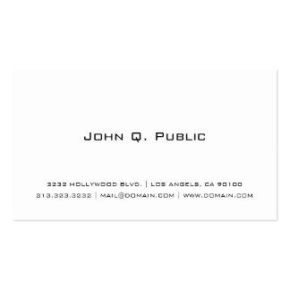 Berufliches einfaches Weiß Visitenkarten