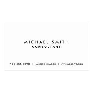 Berufliches einfaches weißes elegantes modernes visitenkartenvorlage