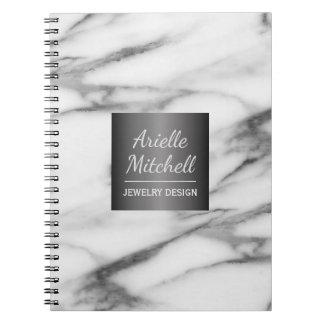 Berufliches elegantes Alabaster-Marmor-Muster Notizblock