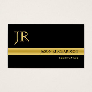 Berufliches elegantes Geschäftskarte Schwarzes und Visitenkarte