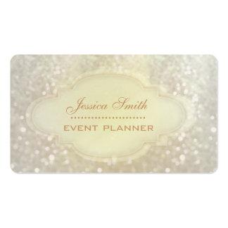 Berufliches elegantes modernes Glitter bokeh Visitenkartenvorlage