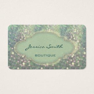 Berufliches elegantes modernes Glitter bokeh Visitenkarte