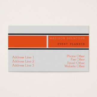 Berufliches elegantes modernes minimales orange visitenkarte