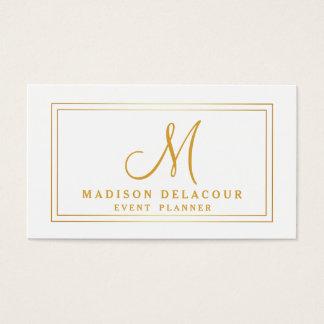 Berufliches elegantes modernes Monogramm-Gold u. Visitenkarte