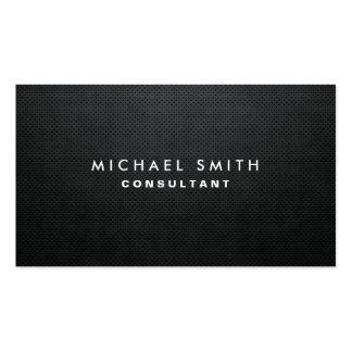 Berufliches elegantes modernes schwarzes einfaches visitenkartenvorlagen