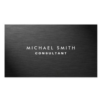 Berufliches elegantes modernes schwarzes einfaches visitenkarten
