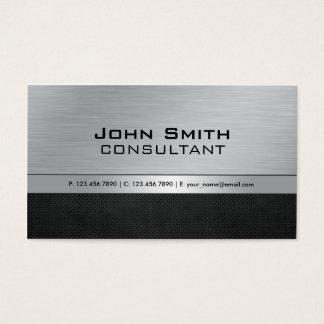 Berufliches elegantes modernes silbernes schwarzes visitenkarten