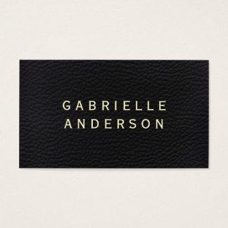 Berufliches elegantes schwarzes Leder mit mutigem Visitenkarte