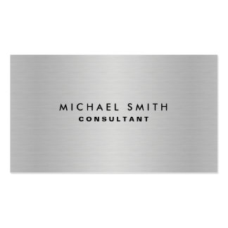 Berufliches elegantes silbernes Metallmoderne Visitenkarten
