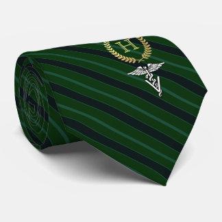 Berufliches gerahmtes Monogramm-Veterinärgrün Individuelle Krawatte