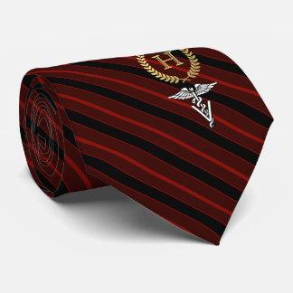 Berufliches gerahmtes Monogramm-Veterinärrot Bedruckte Krawatte