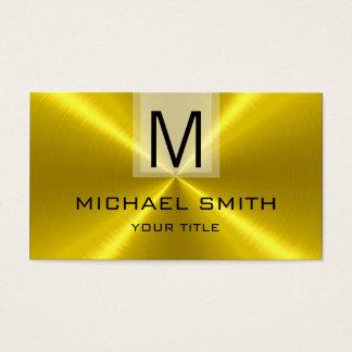 Berufliches Goldrostfreier Stahl-Metallmonogramm Visitenkarte