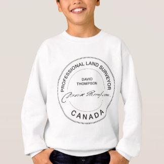 Berufliches Land-Feldmesser Kanada Davids Thompson Sweatshirt