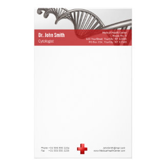 Berufliches medizinisches rotes Kreuz DNA - Briefpapier