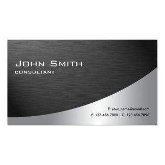 Berufliches Metallelegantes modernes einfaches Visitenkartenvorlagen
