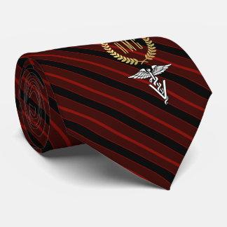 Berufliches mit Monogramm Veterinärrot Personalisierte Krawatte