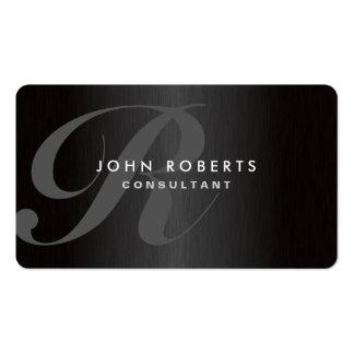 Berufliches Monogramm-elegantes modernes Visitenkartenvorlagen