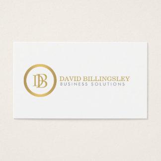 Berufliches Monogramm-Logo im Imitat-Gold Visitenkarten