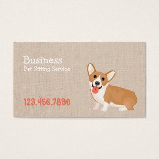 Berufliches niedliches Hundehaustier-Sitzen Visitenkarte