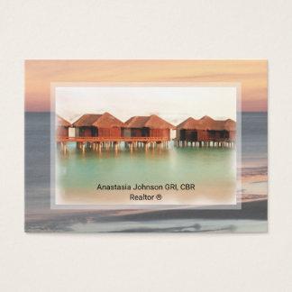 Berufliches Realtor-Ferien-Zuhause addieren Foto Visitenkarte