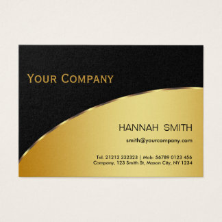 Berufliches schwarzes Goldmetallmodernes elegantes Visitenkarte