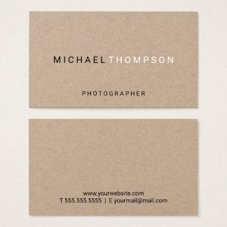 Berufliches unbedeutendes Braunes Packpapier Visitenkarte