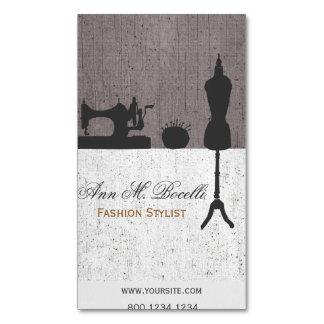 Berufliches Vintages Mode-Stylist-Mannequin Visitenkartenmagnet