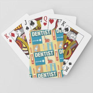 Berufliches Zahnarzt Iconic entworfen Spielkarten
