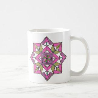 Beruhigen der lila und rosa Tasse