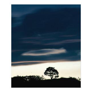 Beruhigende Landschaft und Himmel Fotodruck