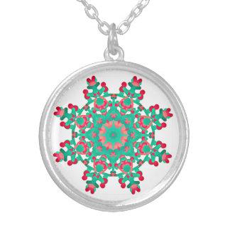 *~* beruhigende Mandala - heilende Energie über Versilberte Kette