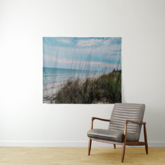Beruhigende Strand-Szenen-Wand-Tapisserie Wandteppich