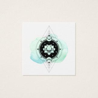 *~* beruhigender heiliger Symbol-Weg zum Nirwana Quadratische Visitenkarte