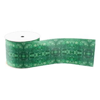 Beruhigendes abstraktes grünes tidepool ripsband