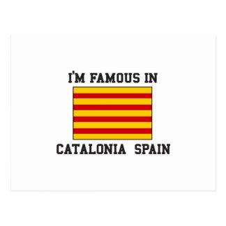 Berühmt in Katalonien Spanien Postkarte