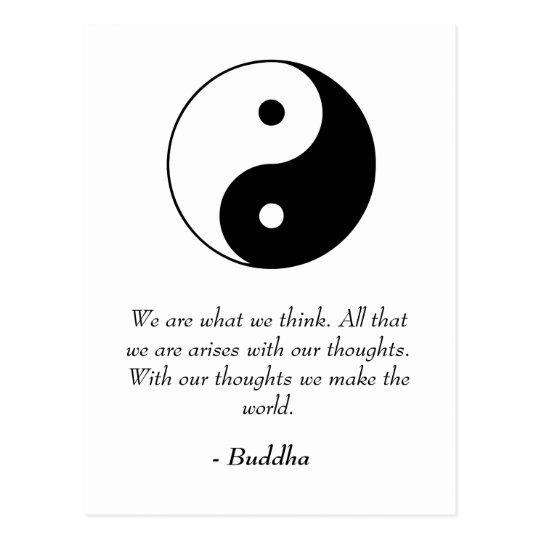 Beruhmte Buddha Zitate Gedanken Machen Die Welt Postkarte
