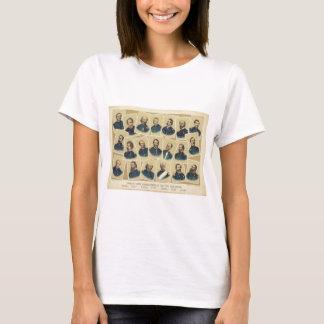 Berühmte Gewerkschafts-Kommandanten des zivilen T-Shirt