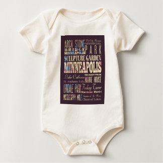 Berühmte Orte von Minneapolis, Minnesota Baby Strampler