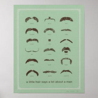 Berühmte Schnurrbärte Plakat