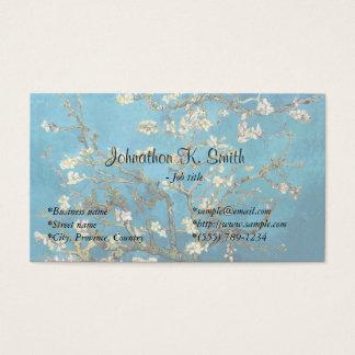 Berühmte schöne Kunst blühender Mandelbaum Visitenkarte