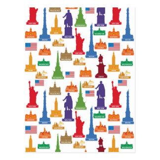 Berühmte Stadt USA Postkarte
