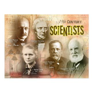 Berühmte Wissenschaftler des 19. Jahrhunderts Postkarte