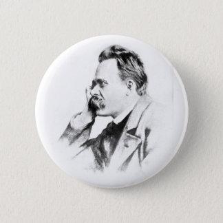 berühmter Denker: Friedrich Nietzsche Runder Button 5,7 Cm