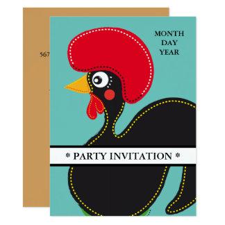 Berühmter Hahn von Barcelos Nr 01 Einladung