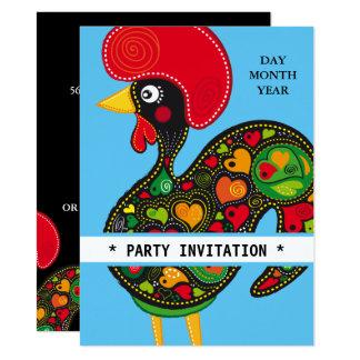 Berühmter Hahn von Barcelos Nr 02 Einladung