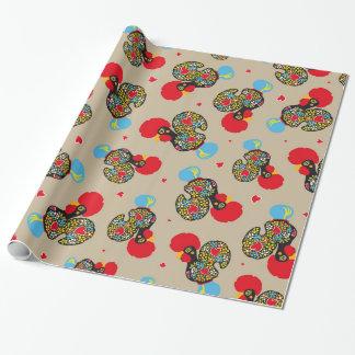 Berühmter Hahn von Barcelos Nr 06 Muster Geschenkpapier