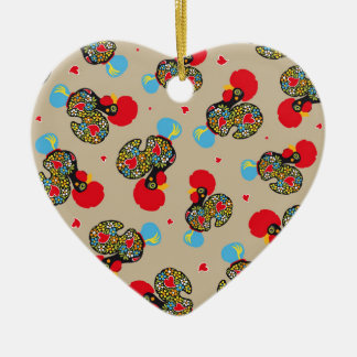 Berühmter Hahn von Barcelos Nr 06 Muster Keramik Ornament