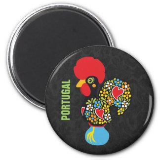 Berühmter Hahn von Barcelos Nr 06 Runder Magnet 5,1 Cm