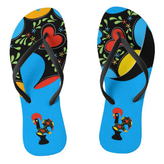 Berühmter Hahn von Barcelos Nr 09 Flip Flops